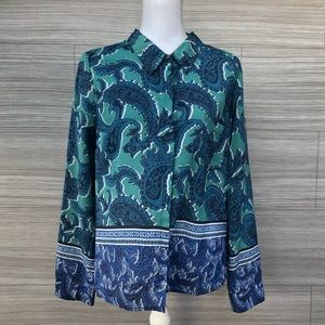 Charlie Jade polyester blouse Size Large